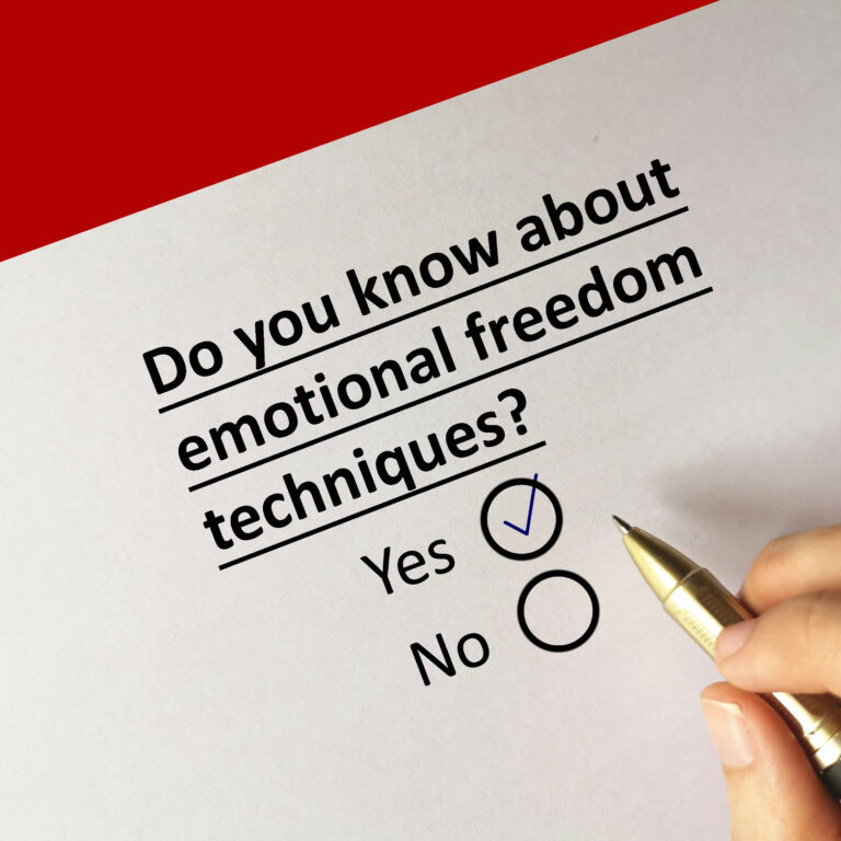 One person is answering question about psychotherapy. The person knows about emotional freedom techniques.